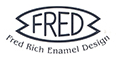 Fred Rich Enamel Design - Exquisite enamelled silverware and 18ct gold jewellery